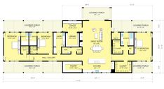 Love this house plan, it has a library!