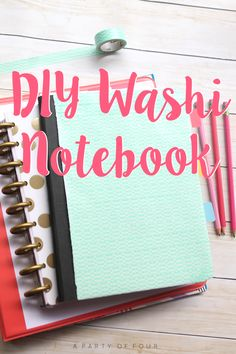 Try this easy DIY Washi Notebook and make your school supplies from @walmart one of a kind! #SchoolYearReady #Ad #CollectiveBias