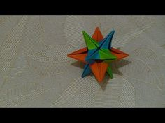 How to make an origami 3D christmas star