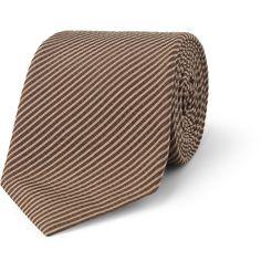 GucciSilk and Cotton-Blend Seersucker Tie