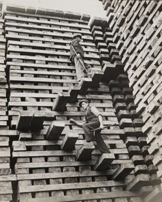 "inland-delta: "" A Mountain of Railway Sleepers, taken in October 1937 by Fox for the Daily Herald. """
