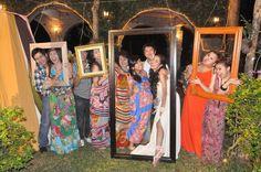 diy - real frames - photo  booth - boho - fun wedding