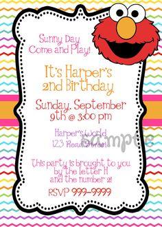 Custom digital DIY Elmo Birthday Party by KRDigitalCandee on Etsy, $10.00