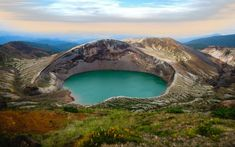 Okama on the borders of Yamagata and Miyagi. Yamagata, Miyagi, Melaleuca, Tanzania, Mount Rainier, Wonders Of The World, Asia, New Homes, Australia