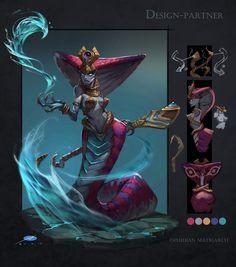 ArtStation - Ophidian matriarch, Xuexiang Zhang