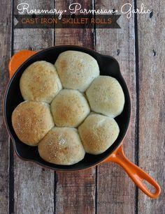 Rosemary Parmesan Garlic Cast Iron Skillet Rolls Recipe [Food Family