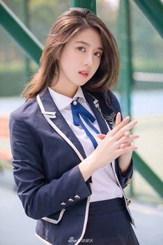 Beautiful Girl like Fashition Asian Cute, Cute Asian Girls, Beautiful Asian Girls, Cute Girls, School Girl Japan, Japan Girl, Cute School Uniforms, Chinese Actress, Ulzzang Girl