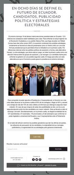 En ocho días se define el futuro de Ecuador. Candidatos, publicidad política y estrategias electorales