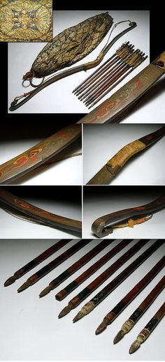 antique edo period samurai kago yumi kago hankyurimankyu a small bow made from horn instead of wood used by samurai when traveling in a palanquin