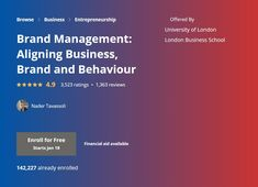 London Business School, Online Marketing Courses, Self Branding, Certificate Programs, Brand Management, Free Courses, Btob, Career Advice, Entrepreneurship