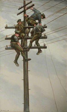 Nevinson, Christopher Richard Wynne Telegraph- Nerves of Army, WWI World War One, First World, Ww1 Art, Art Database, Art Uk, Thing 1, Vintage Artwork, Military Art, Dieselpunk