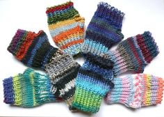 Baby toddler fingerless mittens wristwarmers  by TheYarnOwlsNest