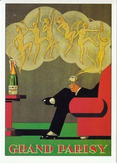 Art Deco Champagne poster.