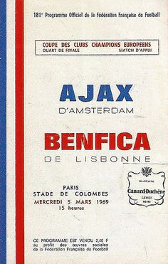 05/03/1969 Ajax - Benfica 3 - 0