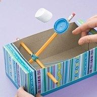 23 Amazing Uses For Empty Tissue Boxes Marshmellow Catapult Marshmallow Shooter Simple Machines