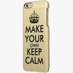 iPhone 6 Plus Cases | Make your own keep calm - black incipio feather® shine iPhone 6 plus case