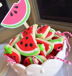 Fiesta Sandía lo mejor para el verano - galletas decoradas