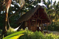 Beach shack outside