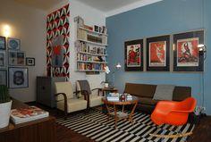 midcentury einrichtung | Die-Wohngalerie: Grafisch elegant - ein Midcentury-Einrichtung in ...