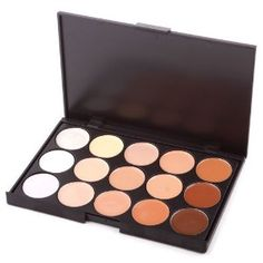 15 Color Professionl Makeup Eyeshadow Camouflage Facial Concealer Neutral Palette by BuyinCoins. $5.53. Each Diameter: 2.6cm.. It is perfect for Professional Salon, Wedding, Party and Home use.. Size: 15.4 x 10.2 x 1.3cm.. Using the most commonly applied shades, ensures the best skin colour match and guarantees a traceless and natural finish.. Enabling layering and mixing, provides total camouflage for almost any skin problem including blemishes, scars, birthma...