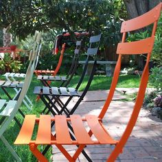http://www.fermob.com/en/Browse-our-furniture/Flagship-collections/Bistro Fermob Bistro Chairs at Potted