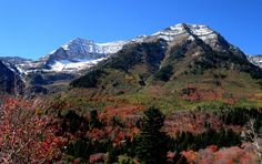 The Great Timpanogus Mountains just north of Provo, Utah!  HOME!