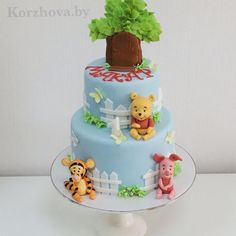 Торт на 1 год для мальчишек. (подборка) | 114 фотографий Baby Birthday Cakes, Baby Boy Cakes, Baby First Birthday, Cakes For Boys, Baby Shower Cakes, Winnie The Pooh Cake, Winnie The Pooh Birthday, Winnie The Pooh Friends, No Bake Cake Pops