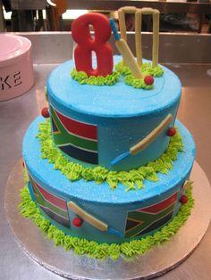Cricket Birthday Cake, Cricket Theme Cake, Happy Birthday Cakes, Boy Birthday Parties, 10th Birthday, Rugby Cake, Sports Themed Cakes, Bithday Cake, Pokemon