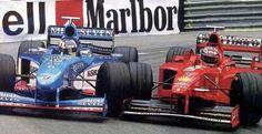 Michael Schumacher (Ferrari F300) & Alexander Wurz (Benetton B198) - 1998 - Monaco GP