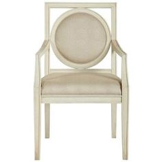 Mirasol Upholstered Wood Frame Arm Dining Chair. #kathykuohome