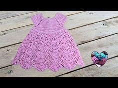 Robe en relief magnifique crochet 1/2 / Vestido en relieve tejido a crochet - YouTube