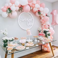 We had to share this beautiful first birthday party from @samanthagreene___  Balloon arch @belleballoons • 1 balloon & partyware @rubyrabbitparty • Cakes @cookiesandcrumbsmelbourne • Treats @teapartyco • Fairy floss @underthecottontree • Sienna Sign @foamtastic • Lolly cart & kids table @minipartypeople • Sienna information sign @inked.design • Photography @zbyzahrah  Great work everyone! #kidsparty #firstbirthday #baby #oneyearold #girlsbirthday #partySave