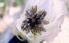 Distinctive Pheasant Feather Hair Clip by LittleOvertheTopShop, $65.00