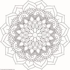Flower Mandala Coloring Pages Pattern Coloring Pages, Mandala Coloring Pages, Coloring Book Pages, Mandala Dots, Flower Mandala, Mandala Painting, Dot Painting, Machine Embroidery Designs, Embroidery Patterns