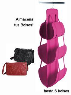 Organizador bolsos Almacena todos tus bolsos evitando que se deterioren a la vez…