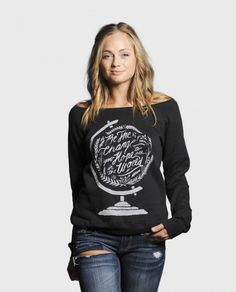 Be The Change slouchy sweater- for every item purchased from this website $7 is donated to the week's charity