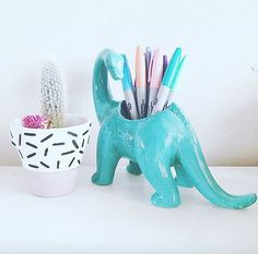 Last Trending Get all images dinosaur home decor Viral c a fcd e ef daf f eaa Cubbies, Work Cubicle, Cubicle Ideas, Work Desk, Pen Holders, Stationery, Room Decor, Crafty, My Room