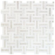 Jeffrey Court Windswept Marble Mosaic Tile would look gorgeous on the floor of a classic bathroom #tile
