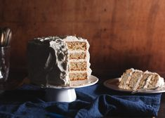 Pistachio Layer Cake with Honey Buttercream