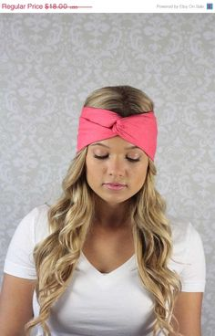 On Sale 15 Off Coral Turban  Womens Solid by moviestarjewelry, $15.30