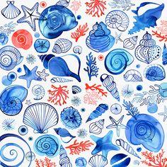 Seashell pattern by Margaret Berg.