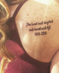 Beautiful...Memorial tattoo for my grandma #tattoo #grandma @jaimeburke1 on Twitter #ad