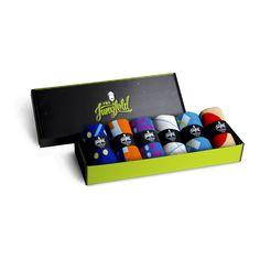 von Jungfeld 6 Socken Box Designkollektion 'Blaustich'   #giftideas #socks #mensocks #giftbox