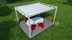Pergola Kit Home Depot Deck With Pergola, Covered Pergola, Pergola Kits, Pergola Ideas, House Porch Design, House With Porch, Patio Shade, Pergola Shade, Tenda Gazebo