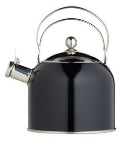 Kitchen Craft 2.3 L Stainless Steel Classic Collection Whistling Kettle, Black