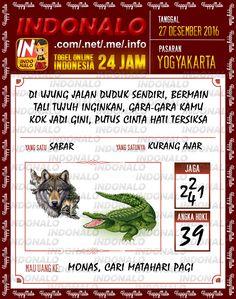Kode Wangsit 4D Togel Wap Online Live Draw 4D Indonalo Yogyakarta 27 Desember 2016