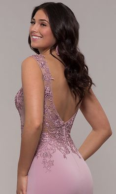 Shop long designer prom dresses at PromGirl. V-back evening gowns by Jovani for prom and pageants with lace, jersey skirts, sequins, and trains. Elegant Prom Dresses, Designer Prom Dresses, Sexy Dresses, Casual Dresses, Fashion Dresses, Fashion Styles, Fashion Bella, Fashion Beauty, Military Ball Gowns