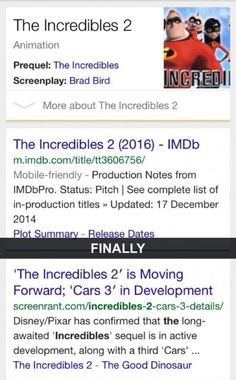 Incredibles 2 is coming
