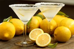Lemon pie martini-  1oz limoncello, 1oz whipped creme vodka,1/2 fresh lemon juice