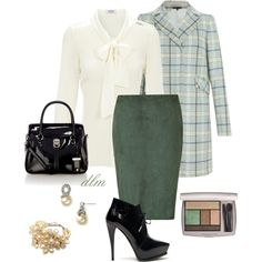 """""""Green"""" by dmiddleton on Polyvore dat trench"""